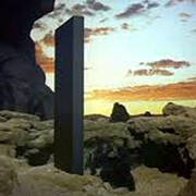 2001 A Space Odyssey - Apes with Monolith