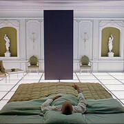 2001 A Space Odyssey - Monolith in Bedroom