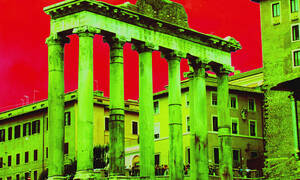 The Temple of Saturn ruins--the epicenter of Saturnalia