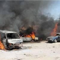 After a VBIED Iraq War 2007-2008