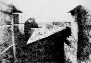 Point de vue du Gras, the first preserved example of photography made by Nicéphore Niépce.