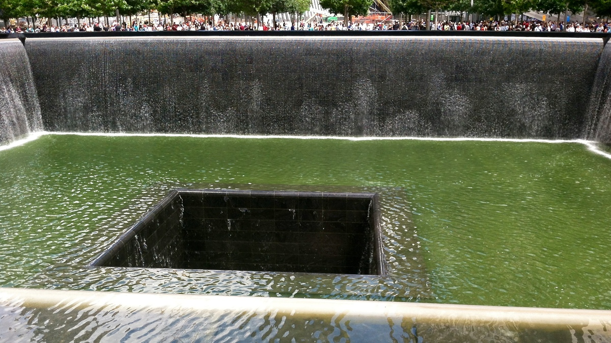 Fountains at the 9/11 memorial