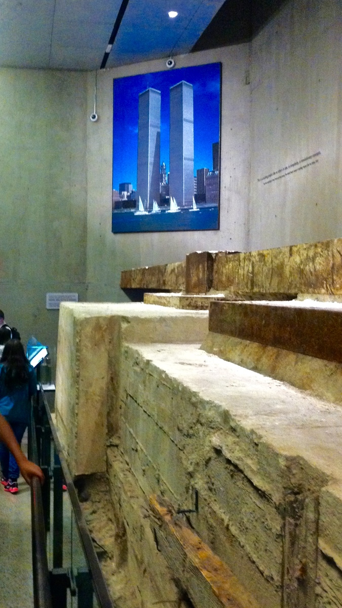 The bedrock on which the Twin Towers destroyed in the 9/11 attacks were built.
