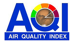 Looks like the Air Quality Index on Mars has maxed out. What is that color? Dried blood-red is the new orange?