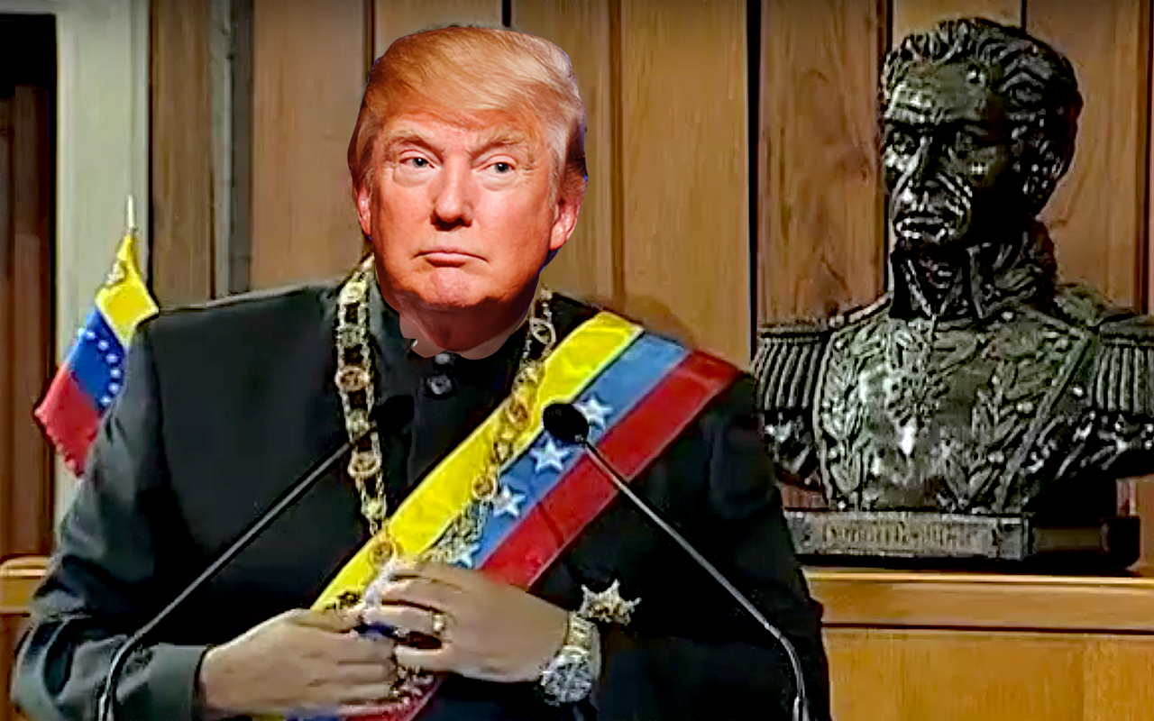 Donald Trump is no Nicholas Maduro, but Trump is a corrupt leader who would clearly ike to be a dictator if he could.