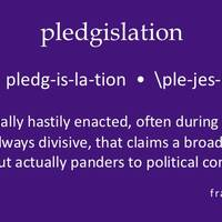 New Word: Pledgislation
