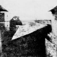 Point de vue du Gras, first photograph by Niépce.