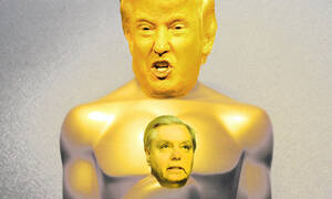 It's awards season. The Donald goes to Lindsey Graham for best public self-humilation in a supplicant rolw.